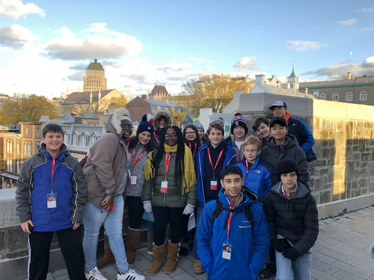 Middle School Students Enjoy Quebec Trip